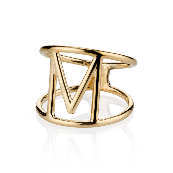 ANDI INITIAL CUT OUT RING
