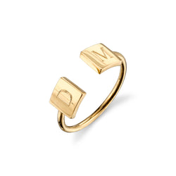 OPEN ROCHA DOUBLE SQUARE RING