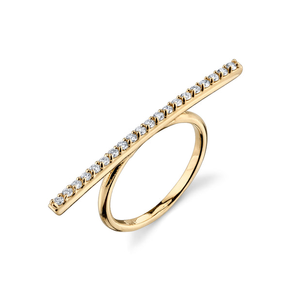 LARGE DIAMOND BAR RING