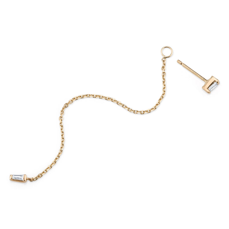 EDIE BAGUETTE CHAIN EAR JACKET