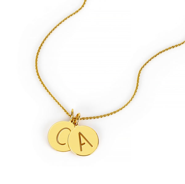 MELANGE- EVA LAYERED INITIAL NECKLACE