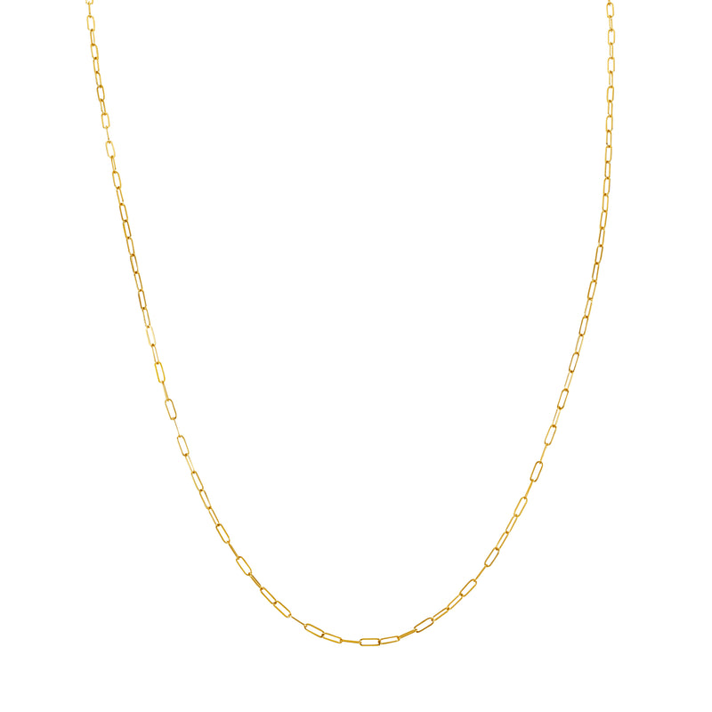 MELANGE-SILVER & GOLD PLATED OPEN LINK CHAIN