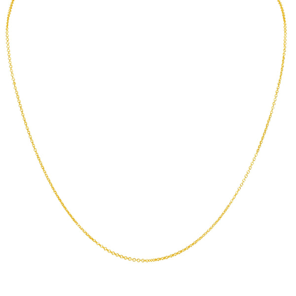 MELANGE-14KT GOLD CABLE CHAIN