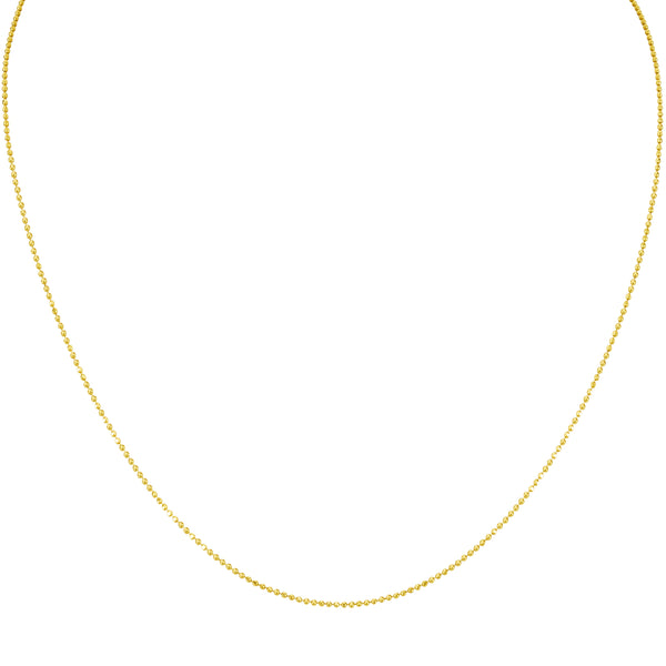 MELANGE-SILVER & GOLD PLATED BALL CHAIN