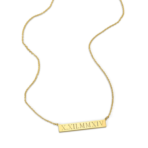 LEIGH ID ROMAN NUMERAL NECKLACE