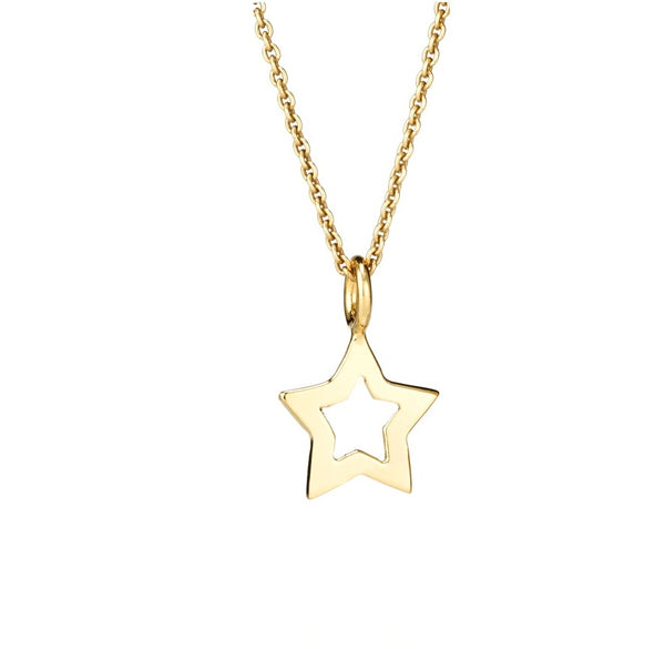 CHARMING-EMMA OUTLINE STAR PENDANT