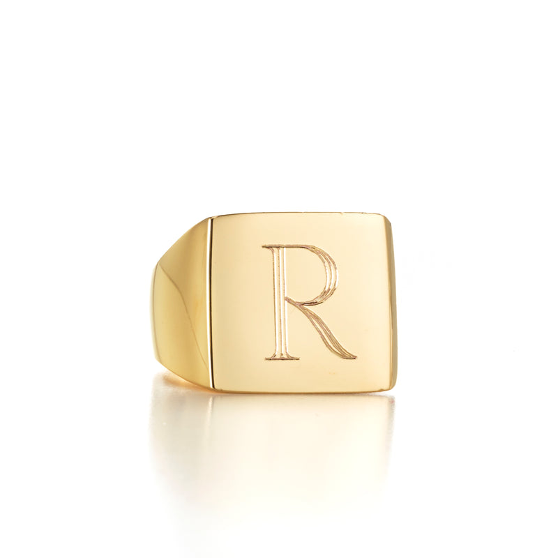 LANA SQUARE SIGNET RING