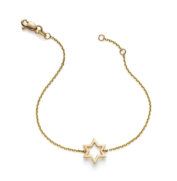 CHARMING OUTLINE STAR OF DAVID BRACELET
