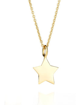 CHARMING-LENA SOLID STAR PENDANT
