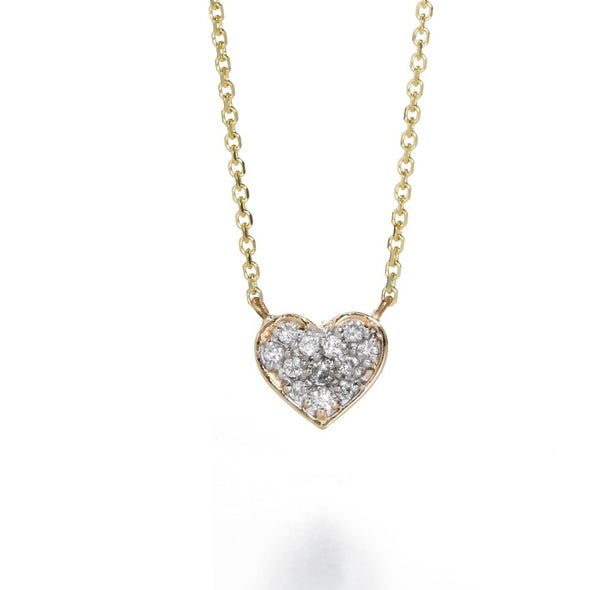 LILY DIAMOND HEART NECKLACE