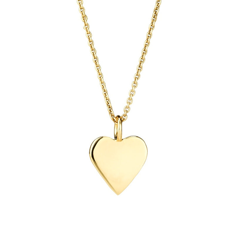 LILY SOLID HEART PENDANT