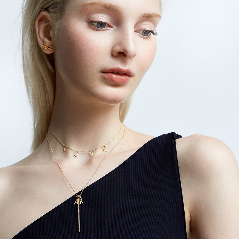 MELANGE- 14KT BLAKE NECKLACE