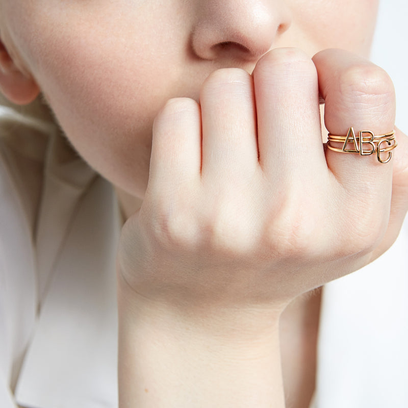 AMELIA STACKABLE INITIAL RING