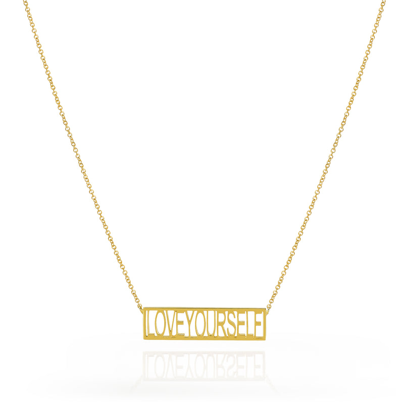 LOVEYOURSELF BAR NECKLACE