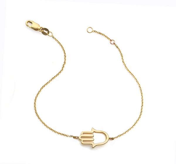 14KT GOLD OUTLINE NATALIE BRACELET