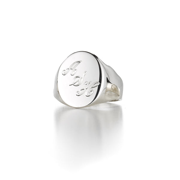 LANA OVAL ANGLED SIGNET RING
