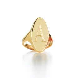 LANA ELONGATED SIGNET RING