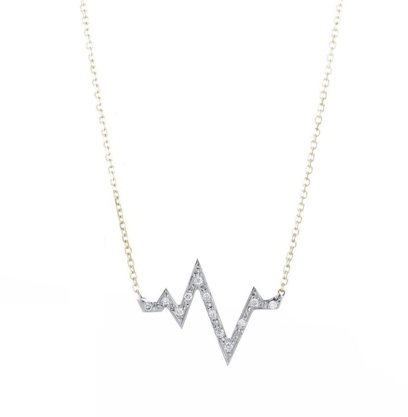 SMALL DIAMOND heart.beat NECKLACE