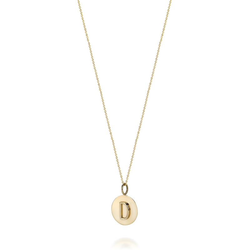 KARI INITIAL MEDALLION NECKLACE
