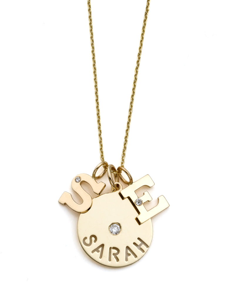 EVA NAME NECKLACE