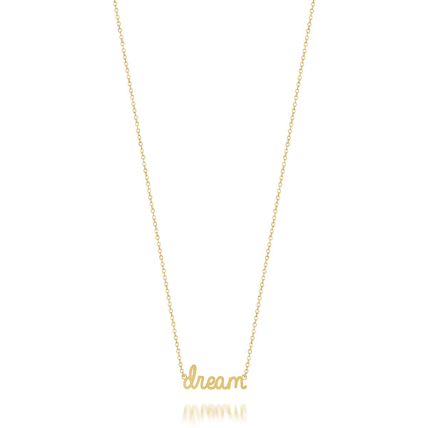 AVA DAINTY SCRIPT 'DREAM' NECKLACE