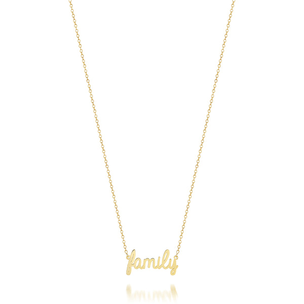 AVA DAINTY SCRIPT 'FAMILY' NECKLACE