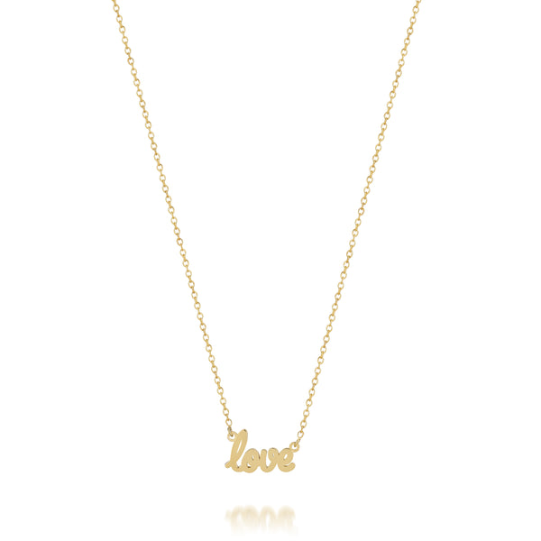 AVA DAINTY SCRIPT 'LOVE' NECKLACE