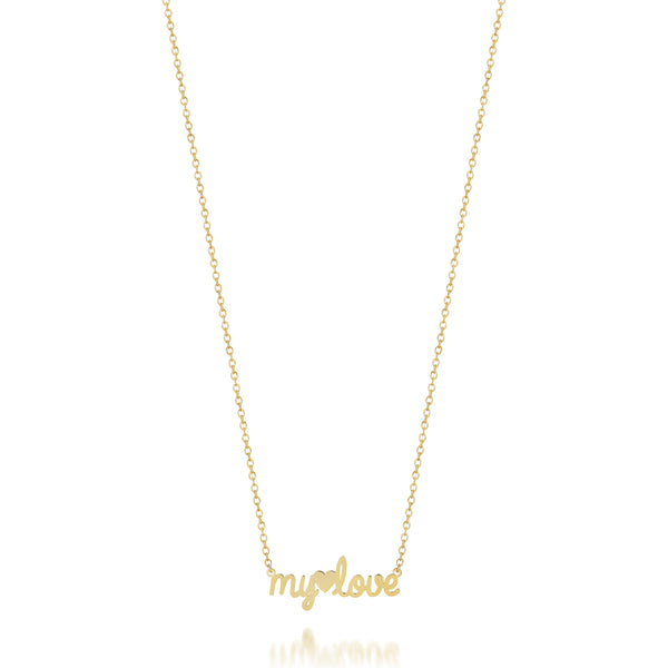 AVA DAINTY SCRIPT 'MY LOVE' NECKLACE