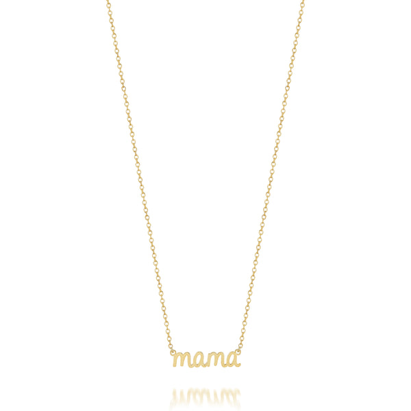 AVA DAINTY SCRIPT 'MAMA' NECKLACE