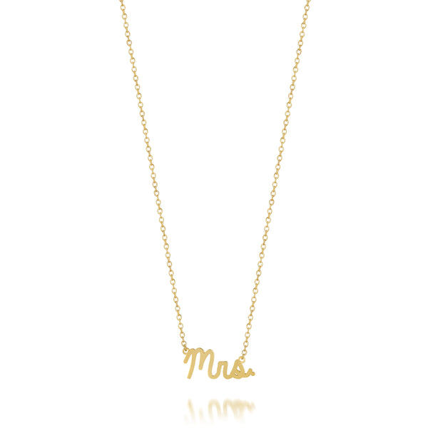 AVA DAINTY SCRIPT 'MRS.' NECKLACE