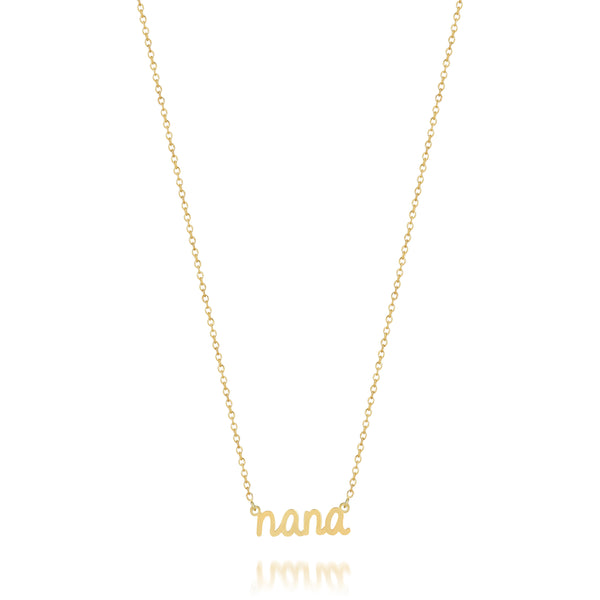 AVA DAINTY SCRIPT 'NANA' NECKLACE