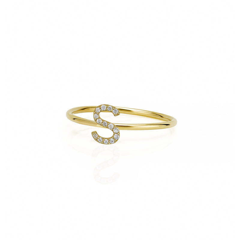 STACKABLE AMELIA DIAMOND INITIAL RING