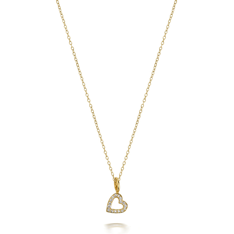 LOVE COUNT DIAMOND HEART NECKLACE