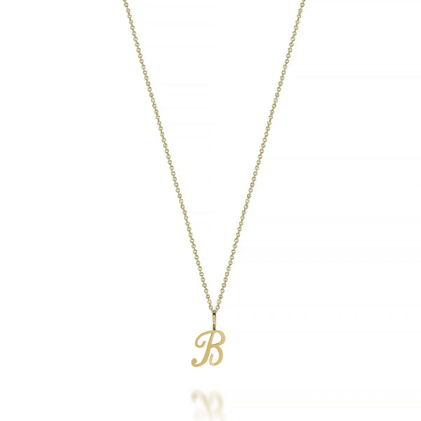 14KT AMELIA SCRIPT INITIAL NECKLACE