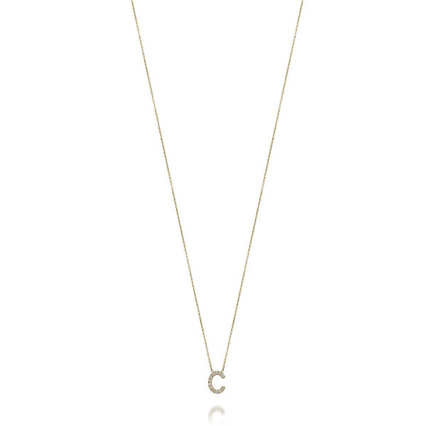 14KT AMELIA DIAMOND INITIAL NECKLACE