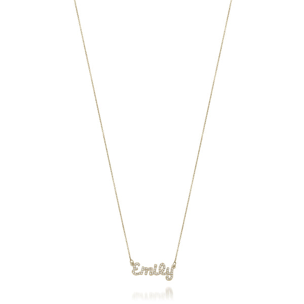 AVA DIAMOND DAINTY SCRIPT NAME NECKLACE