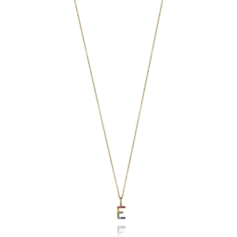 AMELIA RAINBOW INITIAL NECKLACE