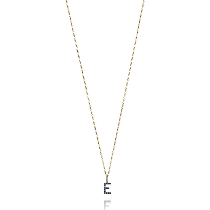 AMELIA SAPPHIRE INITIAL NECKLACE