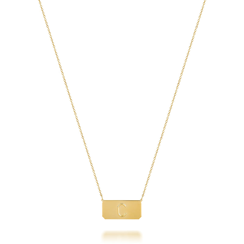 KARI INITIAL BAR NECKLACE