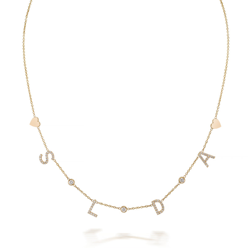 DIAMOND MULTI INITIAL AMELIA NECKLACE