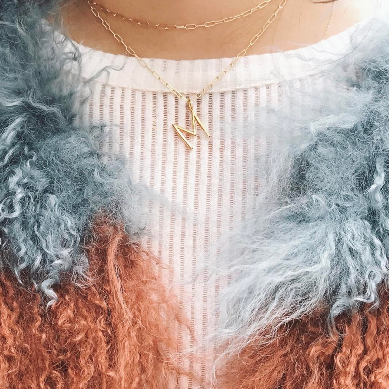 MELANGE-LAYERED ANDI INITIAL NECKLACE