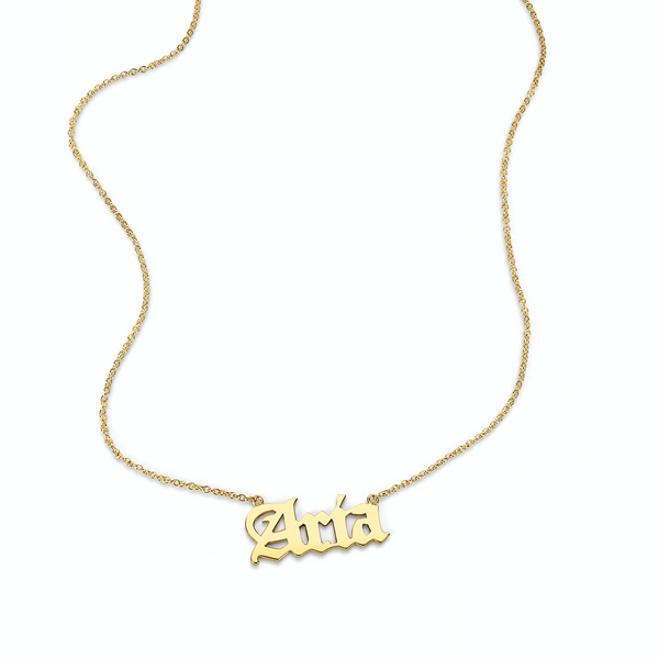 AVA GOTHIC NAME NECKLACE