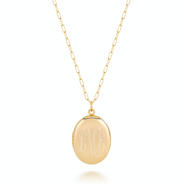 CHARLI OVAL LARGE LOCKET-MONOGRAM