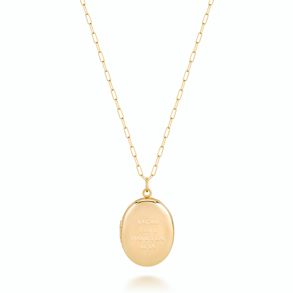 CHARLI OVAL LARGE LOCKET - STACKED NAMES