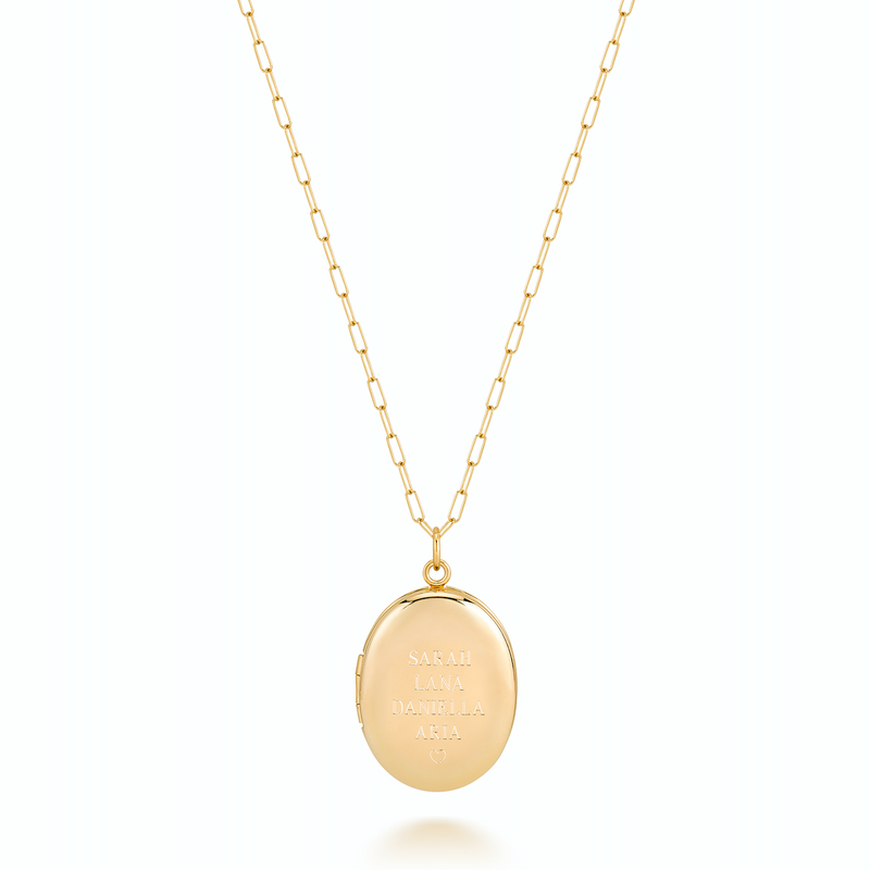 CHARLI LARGE LOCKET - STACKED NAMES