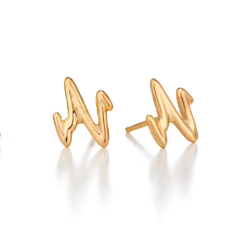 HEART.BEAT TUBULAR EARRINGS