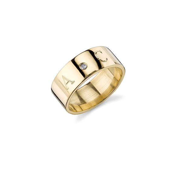 CIELA DIAMOND-DUO INITIAL RING BAND