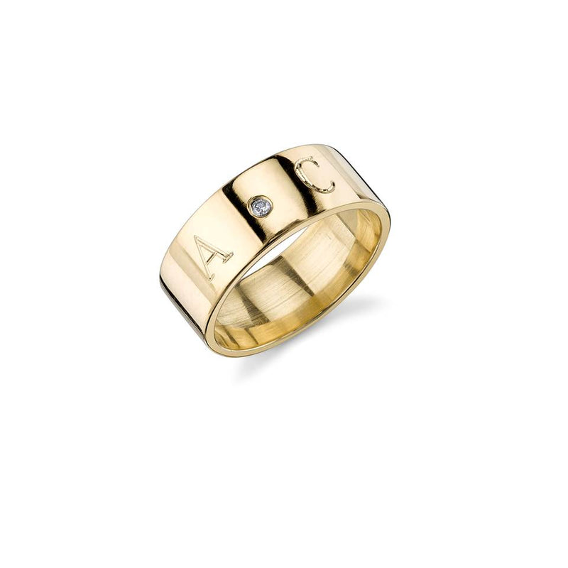 CIELA DIAMOND INITIAL SIGNET RING