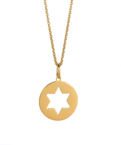 Punched Star of David Pendant