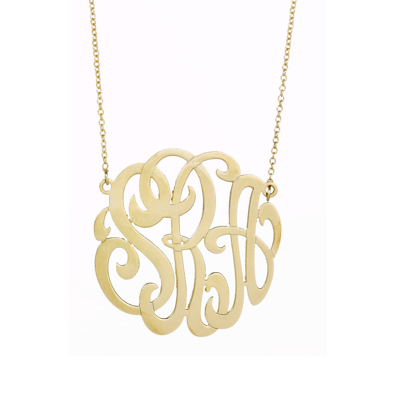TALLULAH CUTOUT MONOGRAM NECKLACE